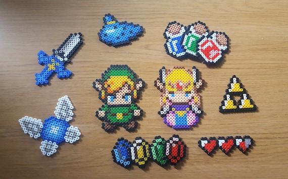 Legend Of Zelda Pixel Art Magnet Keychain Badge Link Triforce Ocarina Navi Rupee