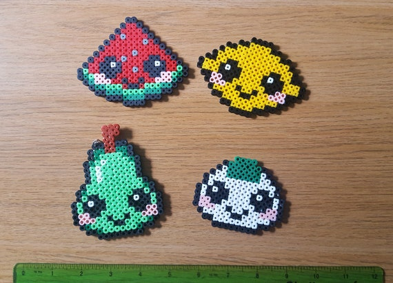 La Nourriture Kawaii Mignon Pixel Art Pin Badge Porte Clé Aimant Boulette De Riz Pizza Aux Sushis Cookie
