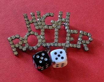 a97cc8fbb6d Casino brooch | Etsy