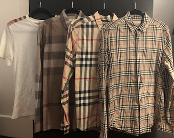 491b872172a Vintage Burberry Mens Lot Including Shirts and Belt