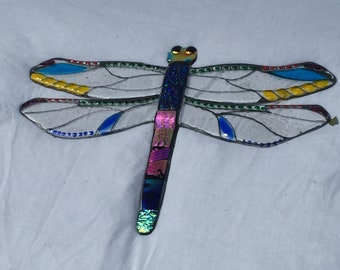 Giant Dragonfly (50cm) fused glass