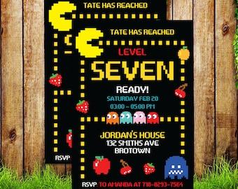 Pac Man Birthday Etsy