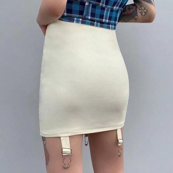 Elegant Lace Asymmetry Corset Lace Tie Up Mini sk… - image 6