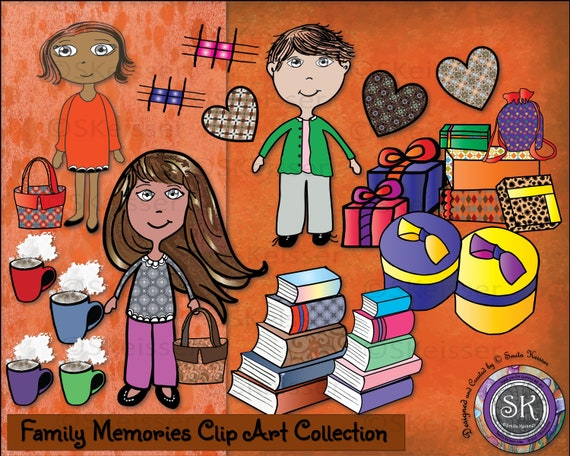 Family Memories Clip Art Collection Digital Scrapbooking Etsy