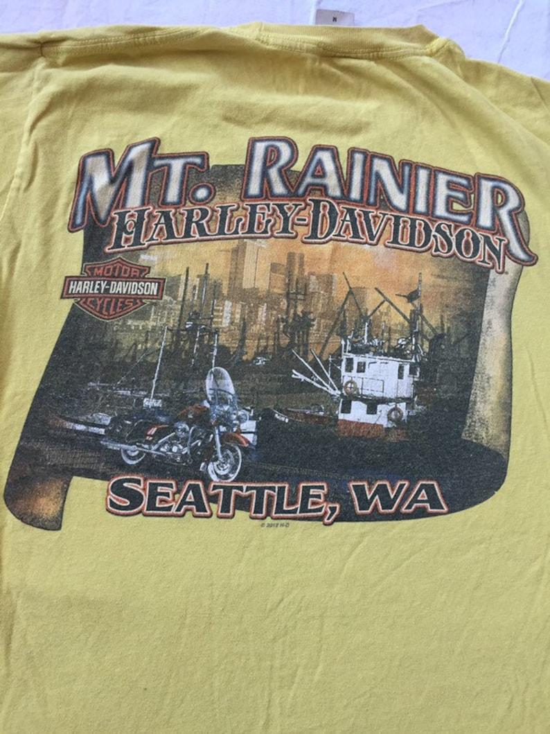 Harley Davidson Seattle >> Harley Davidson Seattle Mt Rainier Tshirt Medium