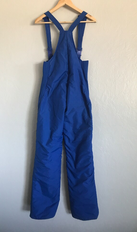 Vintage Rainbow West blue ski bibs medium - image 6