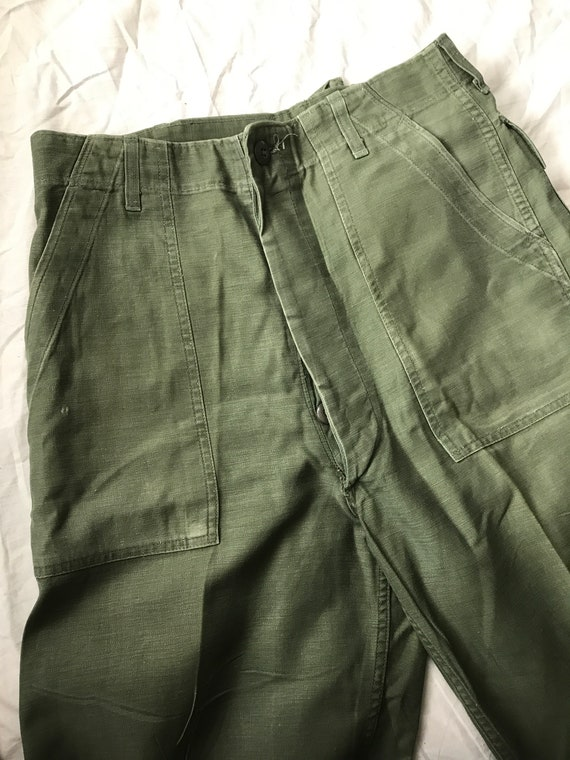 OG 107 sateen trousers olive green 30x34 US milita