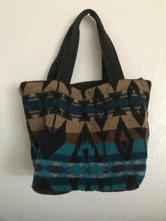 Vintage Pendleton wool purse zipper top