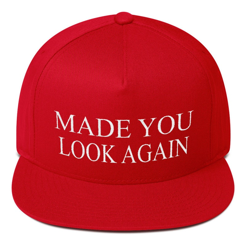 Made You Look Again    Funny Red Maga Parody Hat    Republican  c94398b89ec