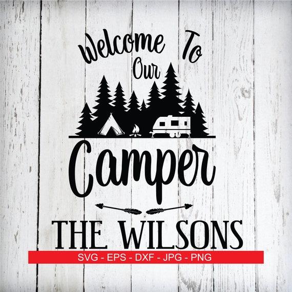 Camping Svg Camper Svg Family Name Svg Mailbox Monogram Svg Etsy