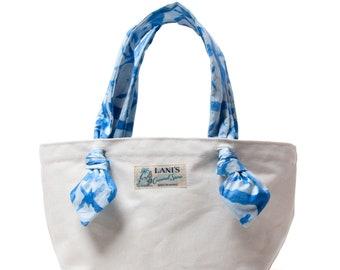 LANI'S General Store Ribbon Tote Bag / Shibori / Made in Hawaii U.S.A.