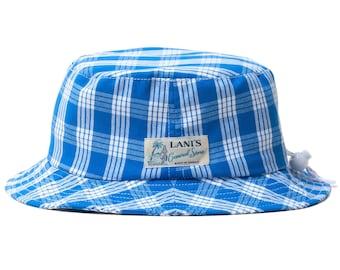 LANI'S General Store Bucket Hat (Palaka Blue) Made in Hawaii U.S.A.