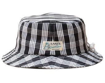 LANI'S General Store Bucket Hat (Palaka Black) Made in Hawaii U.S.A.