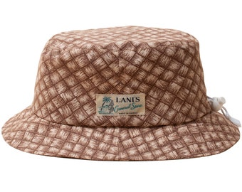 LANI'S General Store Bucket Hat (Lauhala) Made in Hawaii U.S.A.