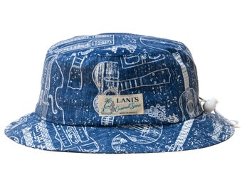 LANI'S General Store Bucket Hat (String Instrument) Made in Hawaii U.S.A.