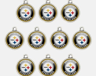 6cad429e Pittsburgh S.teelers 14mm Football Charms for Bracelet Best DIY Jewelry  Making Pendants for Necklace Personalized Gift for Fans