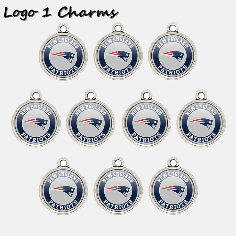 New England P.atriots 14mm Football Charms for Bracelet Best DIY Jewelry Making Pendants for Necklace Personalized Gift for Fans