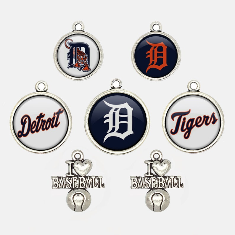 Detroit T.igers Baseball Charms for Bracelet Best DIY Jewelry Making Pendants for Necklace Personalized Gift for Fans
