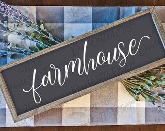 Farmhouse Word Svg Cut File For Sign Tea Towel More Cricut Silhouette Vinyl Wall Art Crafting Farmhouse Font Instant Download Free Downloads 279181 Best Font For Commercial Use