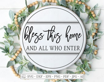 Bless This Home Svg Etsy