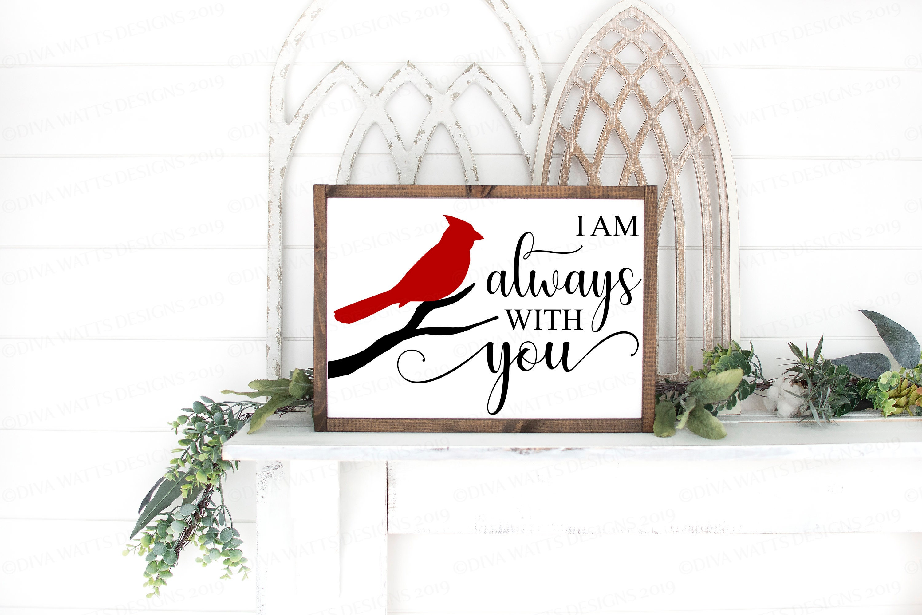 I Am Always With You Svg Red Cardinal Svg Memorial Svg Christmas Ornament Svg Farmhouse Sign Dxf And More Printable