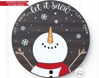 Let It Snow SVG | Christmas Snowman Design