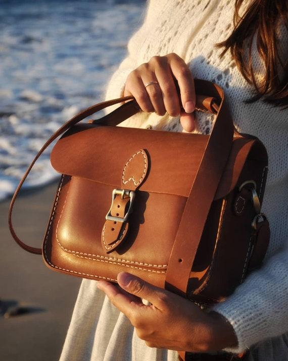 "Bag Women/'s 18/"" Handmade Leather Messenger Satchel Crossbody Laptop Briefcase"