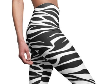 cfa6b8fb39acb1 Leggies - Zebra Leggings Yoga Pants by Reefmonkey