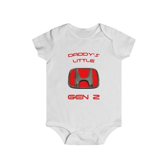 Daddy Honda Fan Cotton Personalized Baby Vest Bodysuit Long Short Sleeve Unisex
