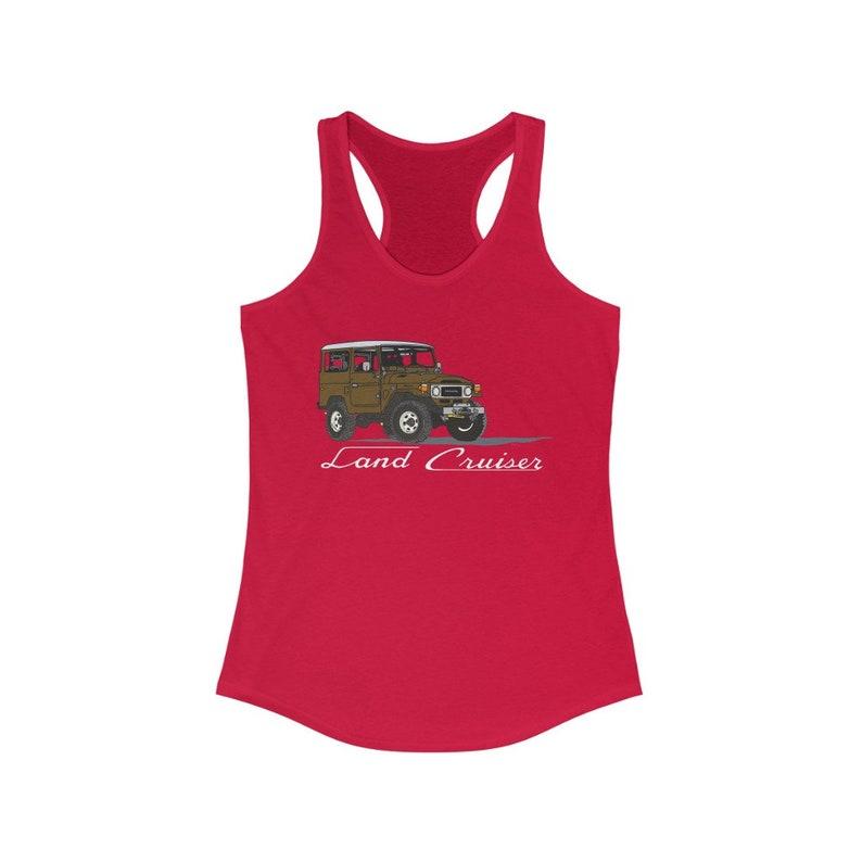 Racerback Tank Womens Tank Artist Brody Ploude FJ40 Tank Top Land Cruiser Tank Top