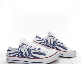 bedf71d83220 Jedi Order Custom print Star Wars Sneakers based on PROSPECT AVENUE White  LowTop shoes