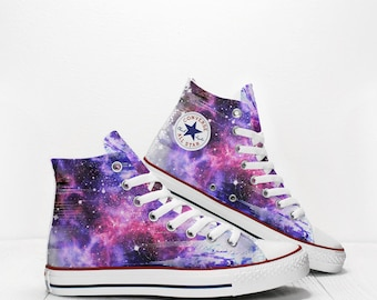Custom Stars and Galaxies in Space Converse All Star Classic High Top Chuck  Taylor Unisex Printed Sneakers 2bd4c1905