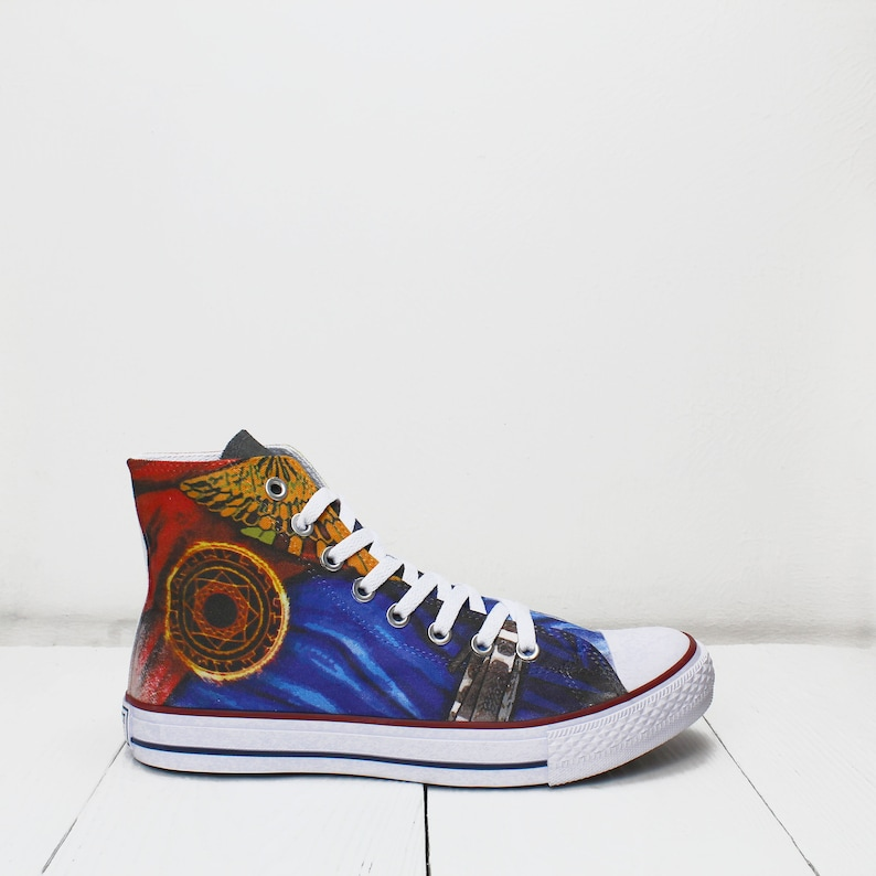 049022aad2ced Doctor Strange costume Custom High Top Sneakers - SIze US Men 8,5 / Eu 42 -  based on PROSPECT AVENUE White shoes