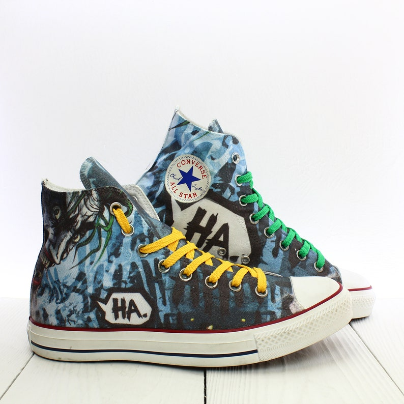 f0be1ea8e98 Handmade Joker Custom Shoes Converse All Star Chuck Taylor