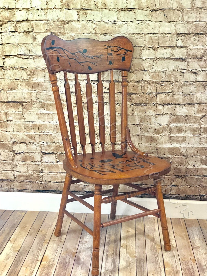 Vintage Wooden Chairs >> Vintage Wooden Chairs Etsy