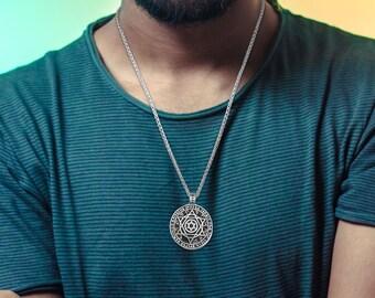 collana stella di david uomo Jewish jewelry for men engrave Engraved Star Of David