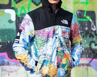 ad9ce1e0c0 Supreme x The North Face world map jacket
