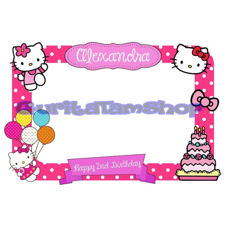 03478f0257 Hello Kitty Frame Hello Kitty Photobooth Hello Kitty Booth | Etsy