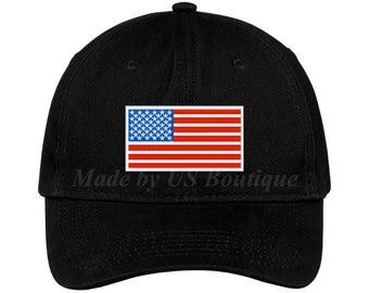 b72979e3de0e8 USA American Flag Hat Tactical Operator Cap Embroidered Baseball Dad Cap