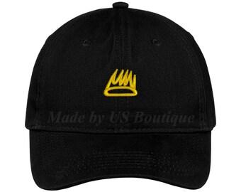 df3b154b Crown Mini Hat King Crown Basquiat Crown Embroidered Baseball Dad Cap