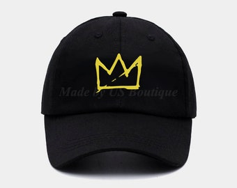 a9fc523917f Basquiat Crown Hat Embroidered Baseball Dad Cap
