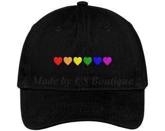 5768aa7b1 Gay pride hat | Etsy