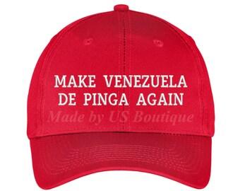 Make Venezuela De Pinga Again Hat Embroidered Baseball Dad Cap Gorra  Venezuela Hat Resistencia Vinotinto Libertad MAGA HAT eec9898929d