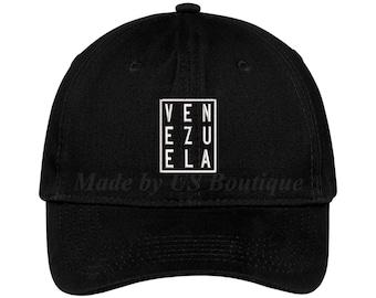 Venezuela Hat Embroidered Baseball Dad Cap Gorra Republica de Venezuela  Escudo Resistencia Vinotinto Libertad a8d02916e0a