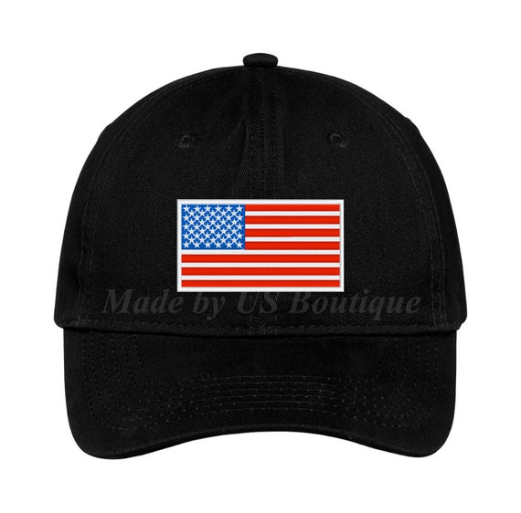 American Flag Embroidered Camo Tactical Operator Structured Cotton Cap FREESHIP