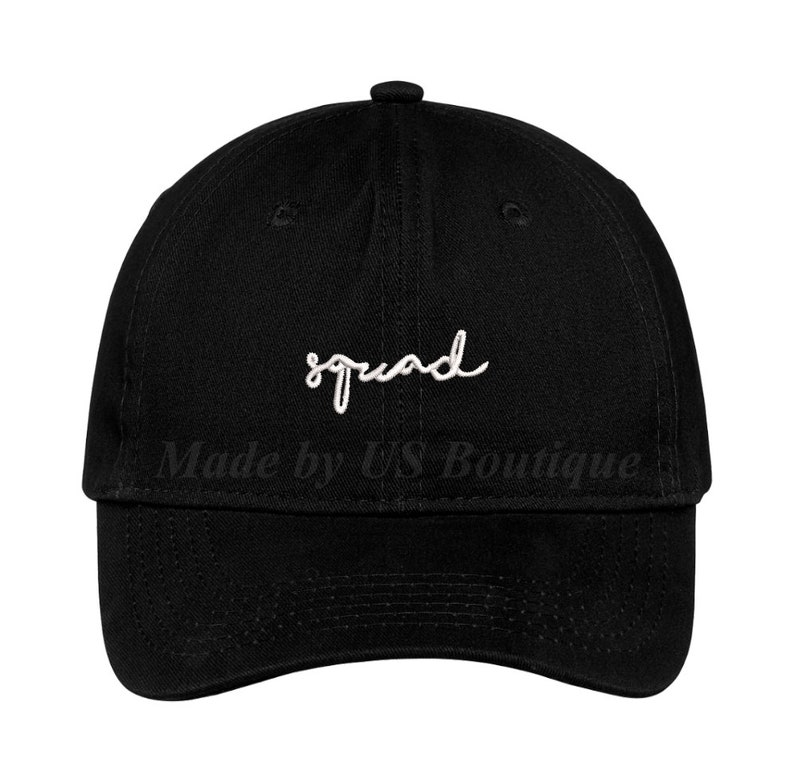 Squad Bride Hat Bachelorette Bridesmaid Gift Customizable Hat Embroidered Baseball Dad Cap