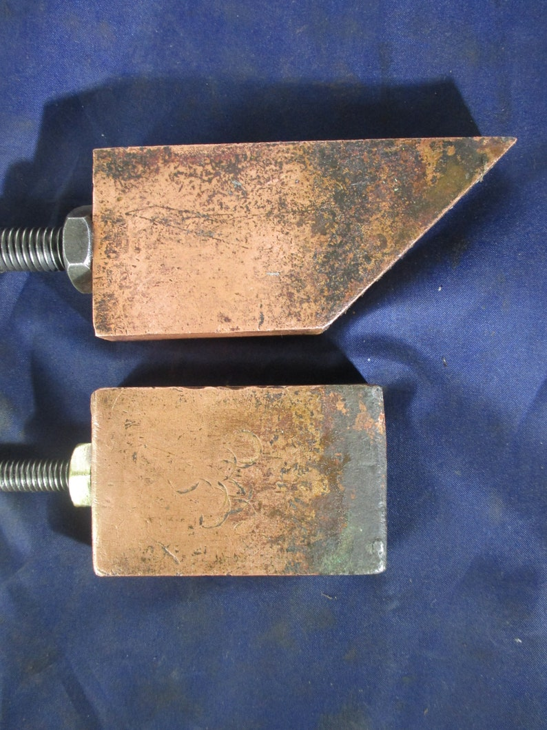 Heavy Coppers. Pair of Unusual Soldering Irons