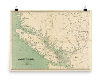 British columbia map | Etsy on canada map, pacific northwest map, british columbia government, victoria map, alberta map, alaska map, vancouver map, canadian provinces map, northwest territories map, nunavut map, victoria british columbia, vancouver on map, canadian territories map, oregon map, mexico map, usa map, glacier national park map, brazil map, united states map, british columbia hotels, new brunswick map, manitoba map, americas map, whistler map, quebec map, vancouver downtown map, banff map, vancouver island map, ontario map, british columbia attractions,