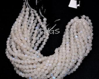 White Moonstone RondellesNatural White Moonstone Rondelle BeadsWhite Moonstone Micro Faceted Rondelle Beads4 MM13 InchesSI-UDI01