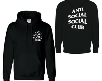caebff9a465a Anti social social club unisex hoodie new long sleeve hood
